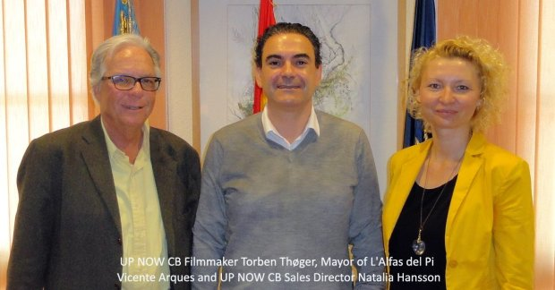 UP-NOW-CB-Torben-Thoger-Mayor-of-LAlfas-Vicente-Arques-and-UP-NOW-CB-Sales-Director-Natalia-Hansson1